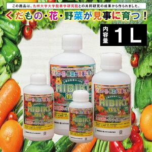 MK菌土壌活性液H-100 HIBIKI MAX 1リットル 肥料 土壌改良 家庭菜園 農業用品