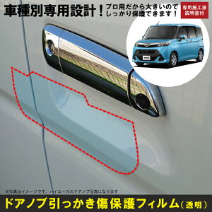 タンク900系用(H28/11〜R2/9)車種別設計ドアノブ生活傷保護プロテクションフィルム トヨタ(TOYOTA)傷防止シート