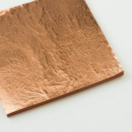 【銅箔 100枚入】銅箔 材料 DIY 工芸用 箔座 HAKUZA