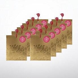 【限定品】こ福分け 金箔入 花梅茶 10個セット