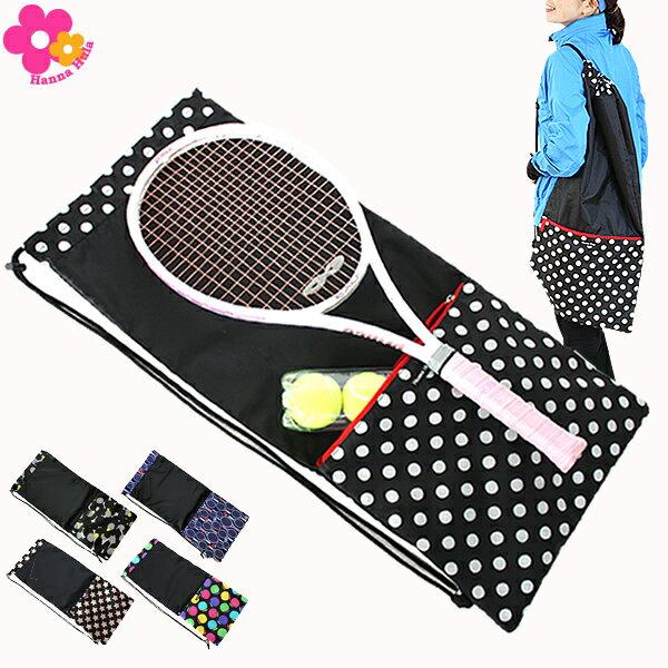 収納ポケット付テニスラケットケース ハンナフラ【ネコポスOK】Hanna Hula バドミントン
