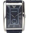 【中古】【美品】EMPORIO ARMANI エンポリオ アルマーニ エンポリオ アルマーニ 腕時計 革ベルト AR1604 ブラック ク…