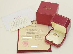 【中古】Cartier カルティエ ラニエールリング K18PG 750 5.7g 指輪 ゴールド