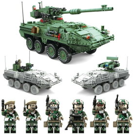 互換 ミニフィグ6体付き 3in1 M1128 ストライカーMGS 装甲車 おもちゃ1:21 ブロック【5400円以上で送料無料】【父の日】
