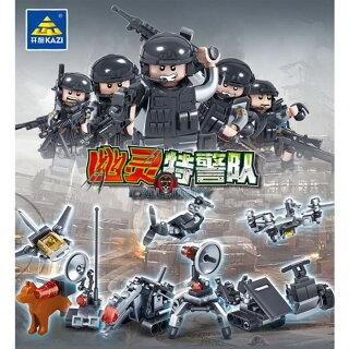互換レゴミリタリーミニフィグ9体セット武器装備箱入り