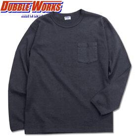 DUBBLE WORKS(ダブルワークス)ポケット付き長袖Tシャツ【19158002】ネイビー