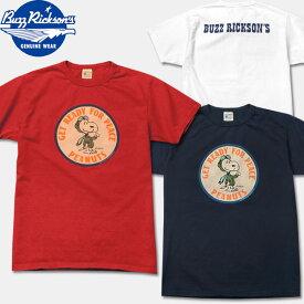 "BUZZ RICKSON'S(バズリクソンズ)×PEANUTS(ピーナッツ)コラボレーションTシャツ【BR77286 ""GET READY FOR PEACE""】"