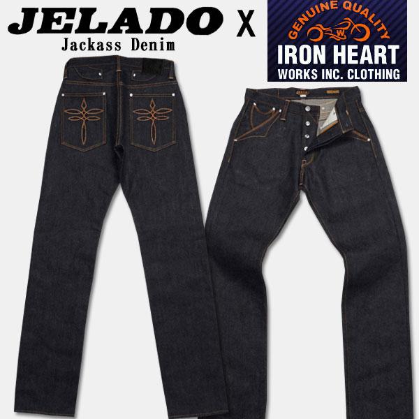 JELADO(ジェラード)XIRON HEART(アイアンハート)コラボレーションジーンズ【JAGIH-219I Juckass Denim】インディゴ