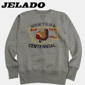 JELADO(ジェラード)クルーネックスウェット【5MSW-007】ソルト&ペッパー(杢グレー)