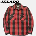 JELADO(ジェラード)長袖チェックネルシャツ(ショート丈)【JP94109】チェリー