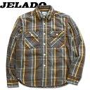 JELADO(ジェラード)Unionworkers Shirts Short Length (ユニオンワーカーズシャツショートレングス)長袖チェックネ…