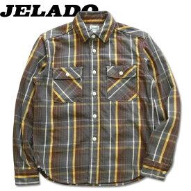 JELADO(ジェラード)Unionworkers Shirts Short Length (ユニオンワーカーズシャツショートレングス)長袖チェックネルシャツ(ショート丈)【JP42133】チョコレートブラウン