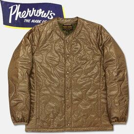 PHERROW'S (フェローズ )キルティングインナージャケット【17W-PIQJ1】ベージュ×ウッドランドカモ