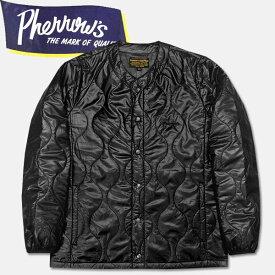 PHERROW'S (フェローズ )キルティングインナージャケット【17W-PIQJ1】ブラック×ナイトカモ