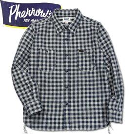 PHERROW'S (フェローズ )長袖チェックネルシャツ【19W-720WS】ネイビーギンガムチェック