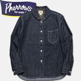 PHERROW'S (フェローズ )長袖ショールカラーデニムワークシャツ【16W-790WS】デニム