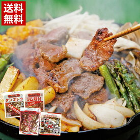 【送料無料】長沼ジンギスカンセット / 北海道 ジンギスカン 鍋 ラム 羊 ロース 味付け肉 羊肉 お土産
