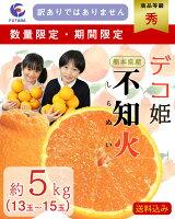 熊本県産不知火デコ姫秀品約5kg13玉〜15玉平均約350g〜400g<期間限定・数量限定>訳ありではありません
