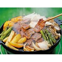 【送料無料】「長沼ジンギスカンセット」北海道ジンギスカン鍋ラム羊ロース味付け肉羊肉
