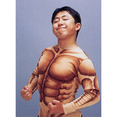 【メール便対応1個】筋肉マンシャツ マッチョ ムキムキ
