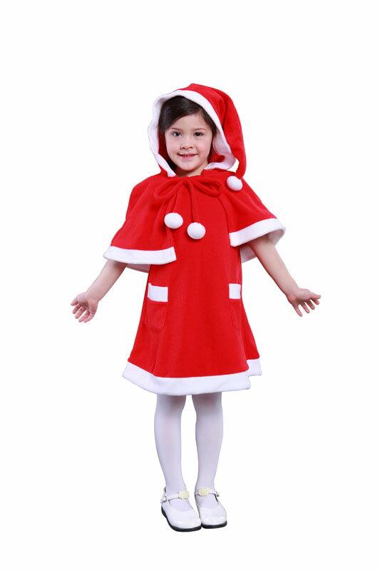 キッズケープサンタ レッド 140 サンタ コスプレ クリスマス 家族クリスマス コスチューム サンタクロース 衣装