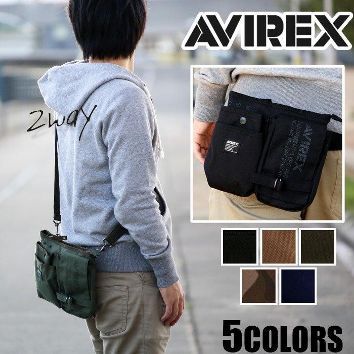 <ポイント5倍> ウエストバッグ AVIREX EAGLE アヴィレックス アビレックス イーグル ミリタリー ブランド ショルダーバッグ ウエストポーチ ヒップバッグ ヒップバック 2way メンズ レディース AVX342L