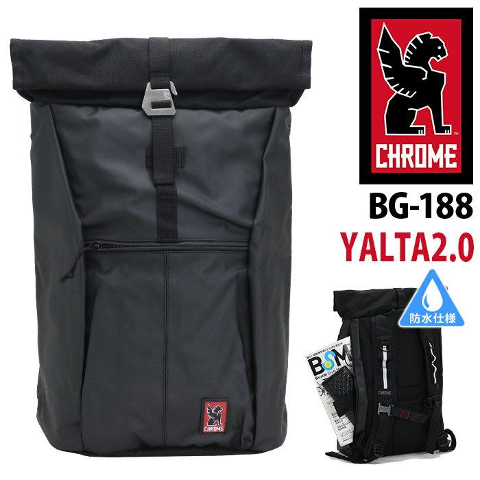 【正規品】 CHROME クローム CHROME INDUSTRIES クロームインダストリーズ ASSAULT YALTA 2.0 アサルト ヤルタ 2.0 ロールトップ リュック メンズ ブラック アスファルト 30L BG-188