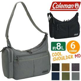 Coleman コールマン WALKER ウォーカー COOLSHOULDER MD クール ショルダー ショルダーバッグ 正規品 斜め掛けバッグ 斜めがけバッグ 保冷ポケット付き Mサイズ ブラック ネイビー アウトドア スポーツ レジャー 旅行 おでかけ 8L