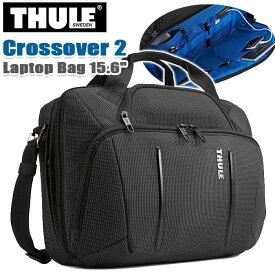 """ビジネスバッグ THULE スーリー ブリーフケース 正規品 ショルダー トート 手持ち 丈夫 15.6インチ PC収納 タブレット収納 丈夫 頑丈 都会派 仕事 通勤 通勤用 ビジネス キャリーオン 斜め掛け ショルダー A4 B4 Thule Crossover 2 Laptop Bag 15.6"""" C2LB-116"""