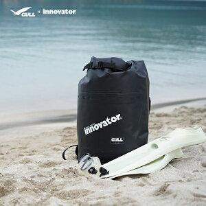 GULL×innovator ガル イノベーター ウォータープロテクトバッグ GI-7144 24L 防水リュック 防水バッグ リュック バックパック ターポリンバッグ ダイビング シュノーケル アウトドア スイミング 釣