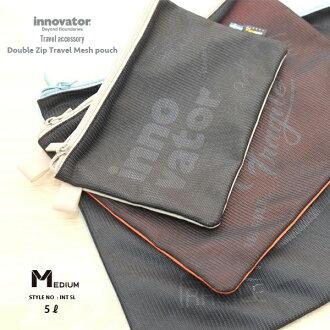 이노베이타 innovator 여행 상품 소품 더블 Zip 메쉬 파우치 M사이즈 5 L편의점 수취 대응 Double zip travel mesh pouch