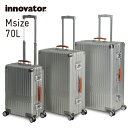 イノベーター スーツケース innovator inv5811 70L Mサイズ 大容量 アルミキャリーケース キャリーバッグ アルミボデー 北欧 トラベル …