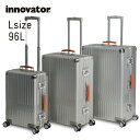イノベーター スーツケース innovator inv7811 96L Lサイズ 大容量 長期滞在 ホームステイ アルミキャリーケース キャリーバッグ アル…
