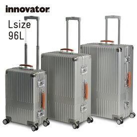 イノベーター スーツケース innovator inv7811 96L Lサイズ 大容量 長期滞在 ホームステイ アルミキャリーケース キャリーバッグ アルミボデー 北欧 トラベル 送料無料 2年間保証