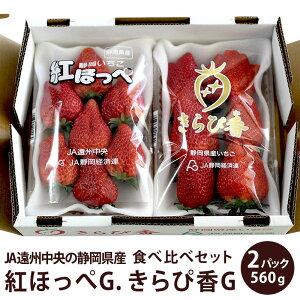 JA遠州中央の静岡県産紅ほっぺG. きらぴ香G.食べ比べセット紅ほっぺ いちご イチゴ バレンタイン 紅ほっぺ いちご 静岡