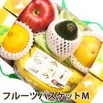 フルーツバスケットM果物マイスターが厳選した旬の果物詰め合わせ送料無料フルーツ盛り合わせギフト(母の日・父の日・御中元・御歳暮・お彼岸・お見舞い等々)
