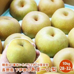 長野産 下伊那のあまーい梨 10kg 28〜32個入り梨 送料無料 ギフト 果物 フルーツ 栄養豊富