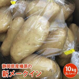 送料無料 静岡県産榛原の新メークイン 10キロ2L・Lサイズ1キロ袋が約10入りをお届け 静岡県産 じゃがいも メークイン送料無料