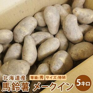 送料無料 北海道産 メークイン 5キロ 秀特Mサイズをお届け北海道産 じゃがいも メークイン送料無料