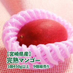 【宮崎県産】完熟マンゴー 1パック 1個入り 9個箱売り 350g以上 送料無料 樹上完熟