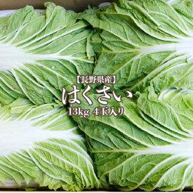 【長野県産】白菜 4玉入り 13kg 1玉3kg 送料無料 はくさい hakusai ハクサイ