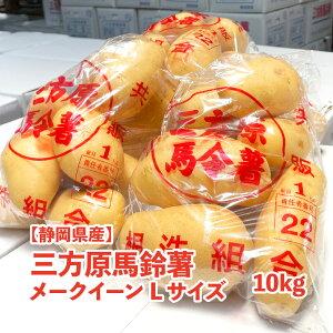【静岡県産】三方原馬鈴薯 メークイーン 10kg Lサイズ 送料無料 1袋1kg 10袋入り じゃがいも メーク 芋 旬 野菜