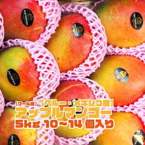 【ペルーメキシコ産】アップルマンゴー 10〜14個入 5kg 箱売り 送料無料 マンゴー