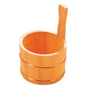 桶 さわら 片手 湯桶 銅タガ D-33-03 高さ245 直径:145/業務用/新品