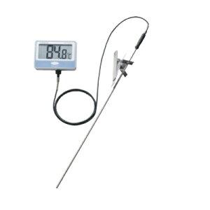 温度計 【SATO 壁掛型防水デジタル温度計 SK-100WP】 SK-100WP 122×85×30(コネクタ部含まず)、センサパイプ:φ5mm×500mm(先丸)、センサコード:1.5m 【業務用】【送料無料】