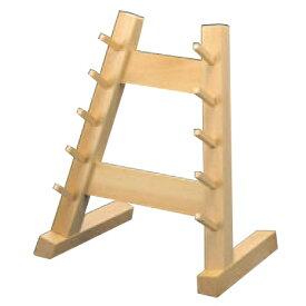 庖丁掛け 木製 庖丁掛ケ 5段 幅300 奥行210 高さ380/業務用/新品