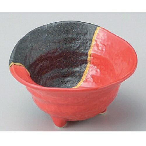 小鉢 【金線赤黒三つ足小鉢】 高さ55mm×口径:110【業務用】【グループB】