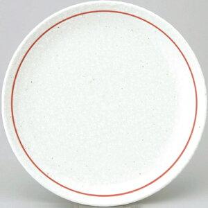 【白鳳 粉引赤ライン 24cm皿 10枚入】【業務用】 【グループB】