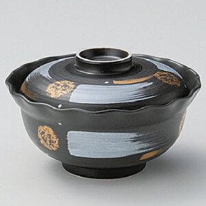 碗 黒マット白刷毛煮物碗 身の直径(最大径):139・蓋付の高さ:82/業務用/新品 /テンポス