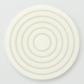 【サークルコースター クリアホワイト】コースター 高さ4mm×口径:95【業務用】【送料別】